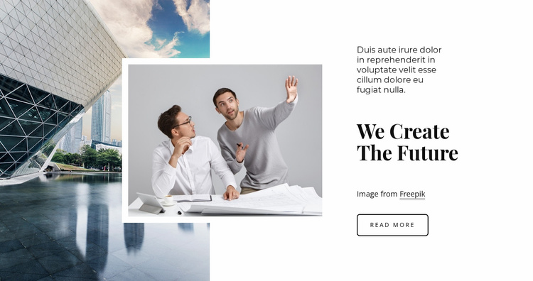 We are the future Website Template