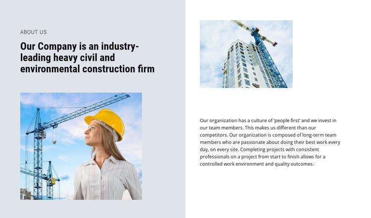 The best industrial building contractors HTML5 Template