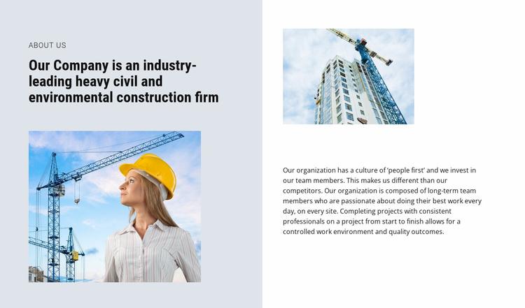 The best industrial building contractors Website Template