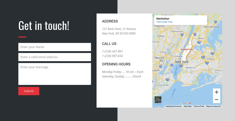 Contact us for the best customer service HTML5 Template