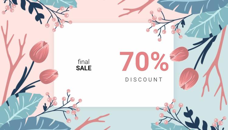 Final sale discount  Website Design