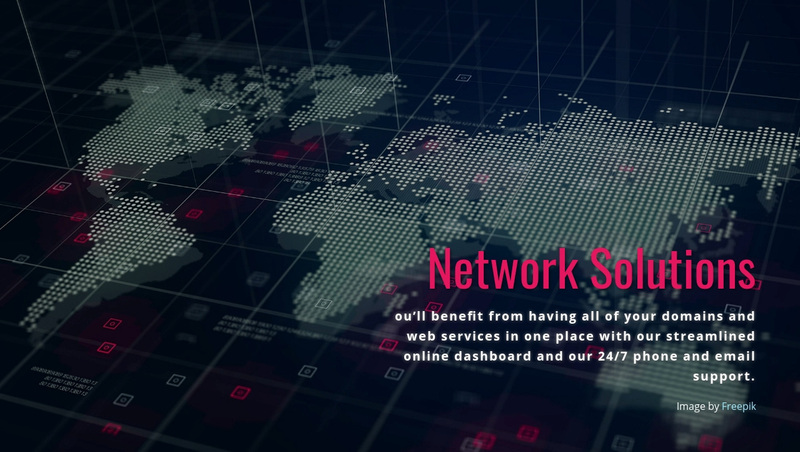 Network connection and solutions Website Creator