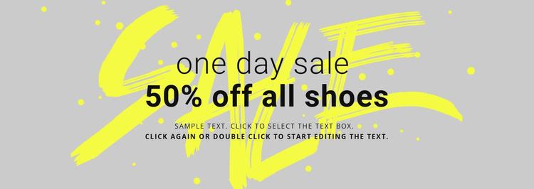 Shoes store sale  Website Mockup
