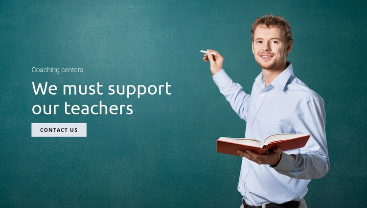 Support education and teachers  Website Mockup