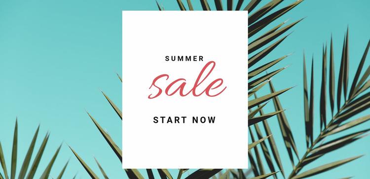 Spring and summer sale  Html Website Builder