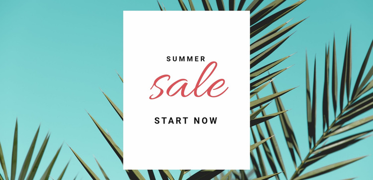 Spring and summer sale  Website Template