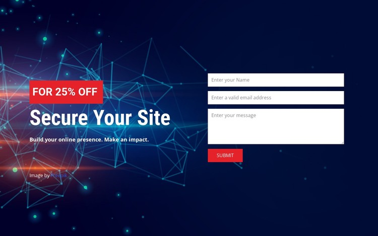 Secure your site CSS Template