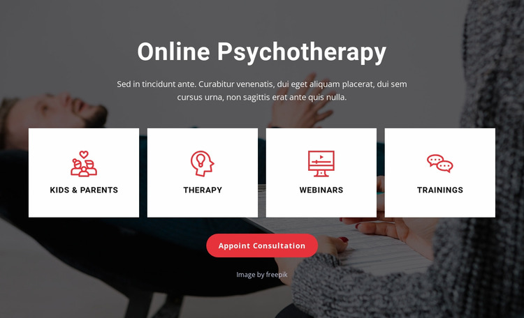 Therapy from your couch Html Website Builder