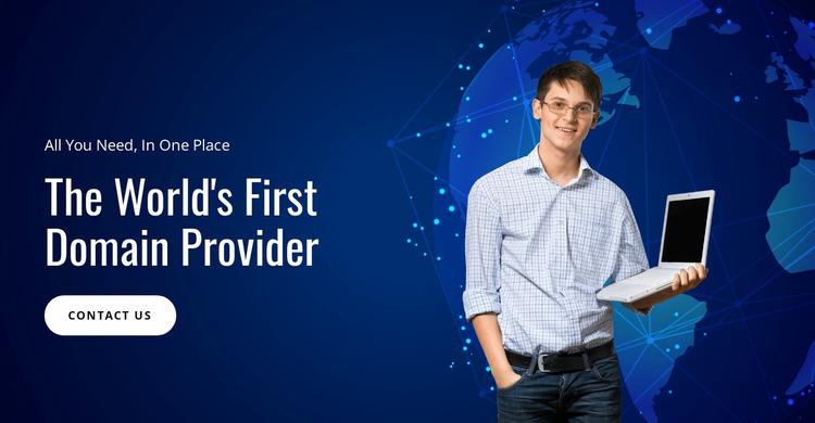 Domain registration service Website Builder