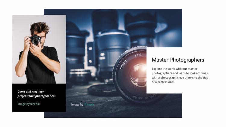 Online photography masterclass WordPress Website Builder
