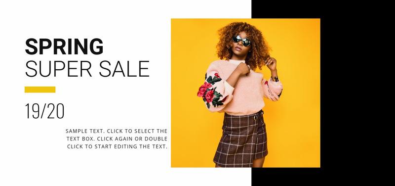 Summer collection sale Web Page Designer