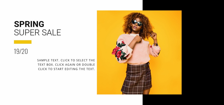 Summer collection sale Website Template