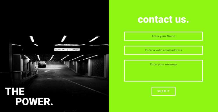 The power gym Website Builder Software