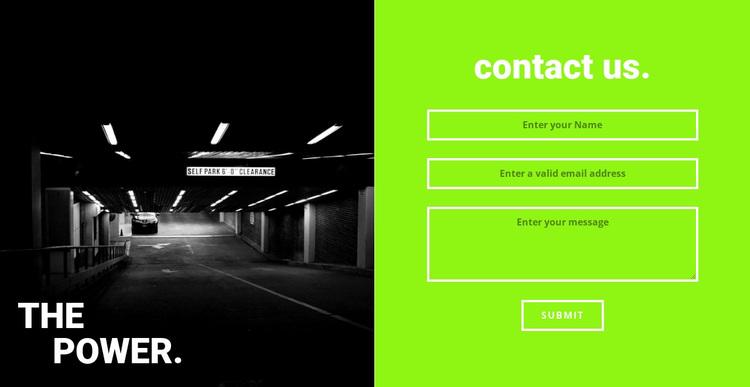 The power gym Website Design