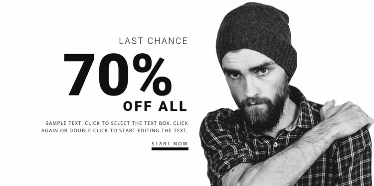 Clothing store sale Website Mockup