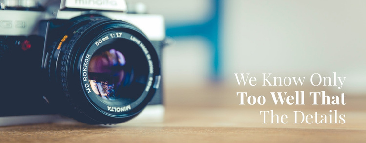Teaching photography from scratch Website Template