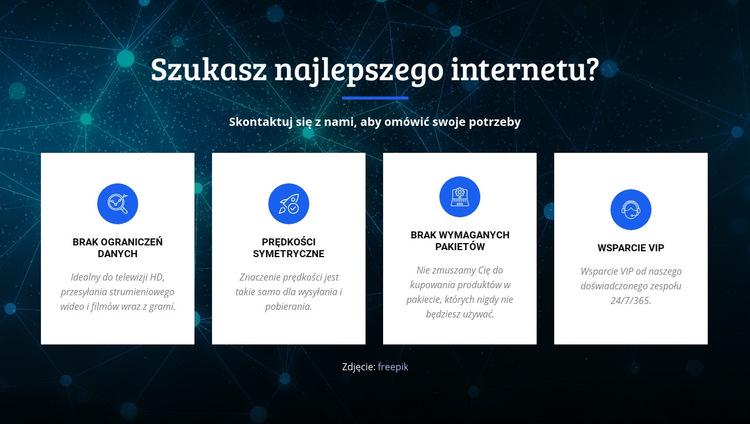 Najlepszy dostawca internetu Szablon witryny sieci Web