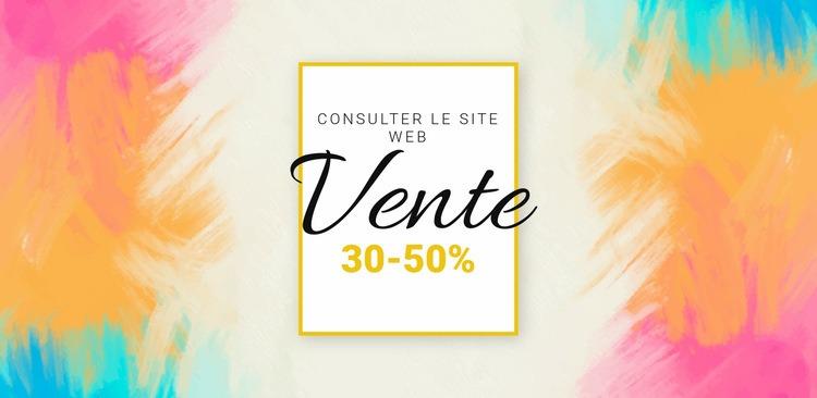 Vérifiez la grande vente Modèle de site Web