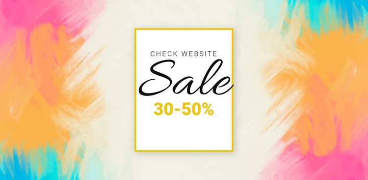 Check the big sale One Page Template