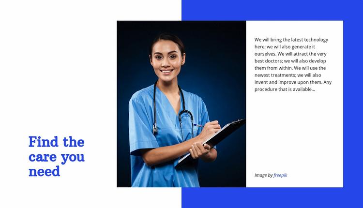 Prevention, diagnosis, treatment Website Template