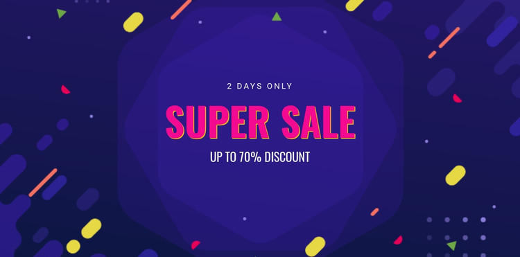 3 Days only sale HTML Template