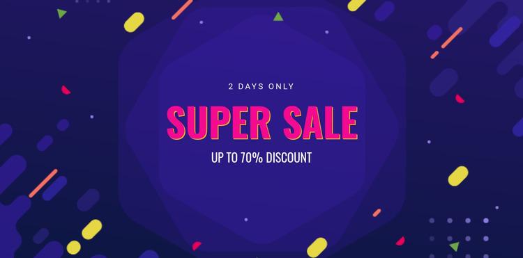 3 Days only sale Html Website Builder
