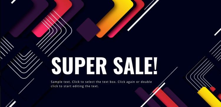 Super new year sale Website Mockup