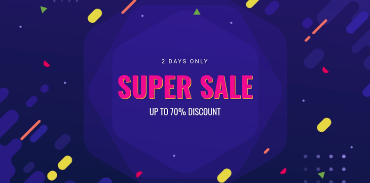 3 Days only sale Landing Page