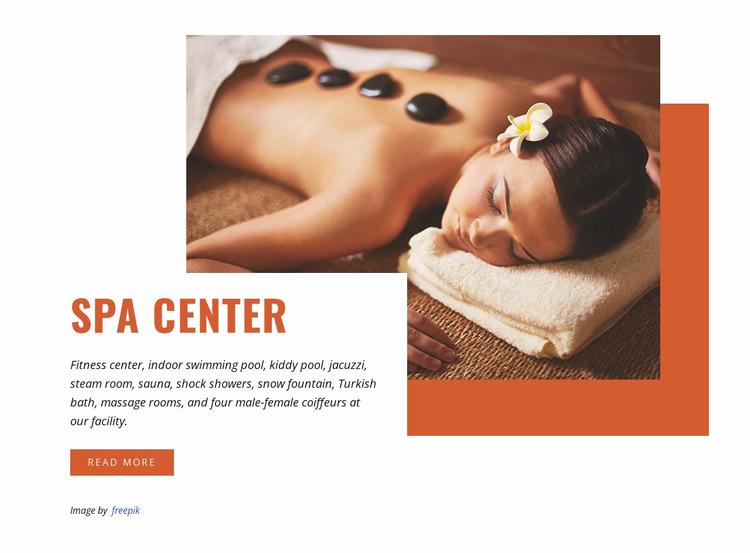 Hot stone massage Website Mockup
