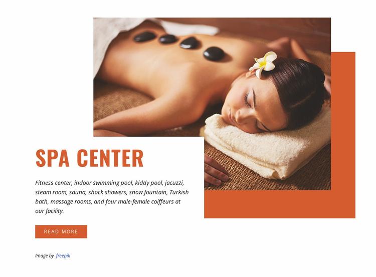 Hot stone massage Website Template