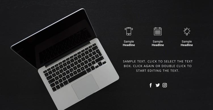 Digital technologies CSS Template