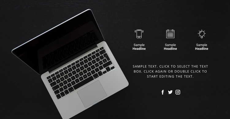 Digital technologies HTML5 Template