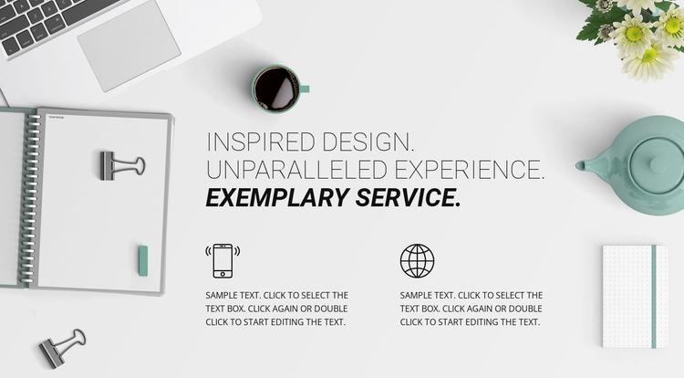 New design experience Website Mockup