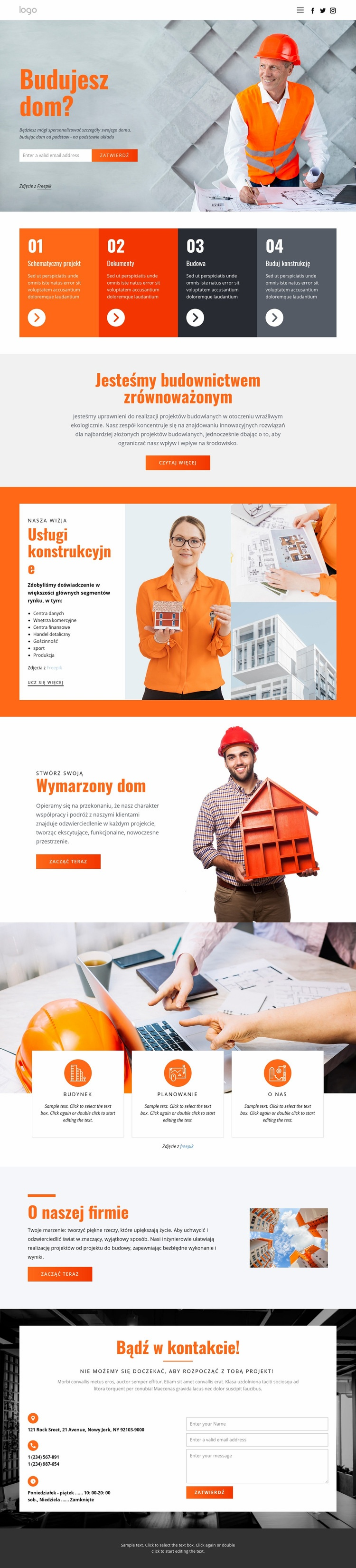 Innowacyjna architektura domu Szablon witryny sieci Web