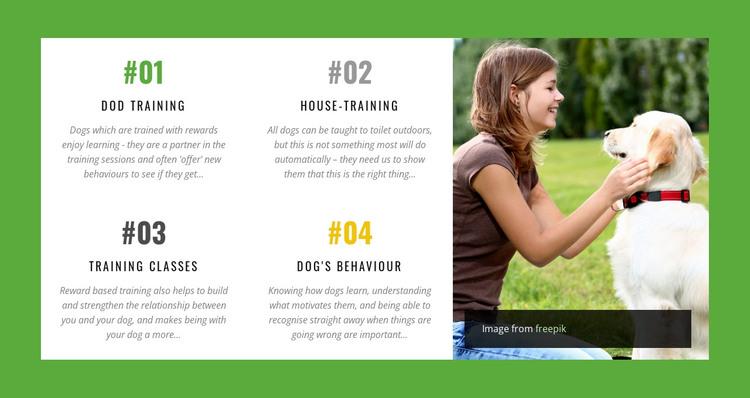 Dog behavior online course HTML Template