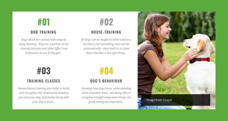 Dog behavior online course Website Template