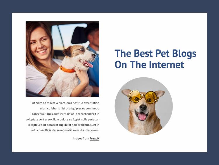 The best pet blogs Website Template
