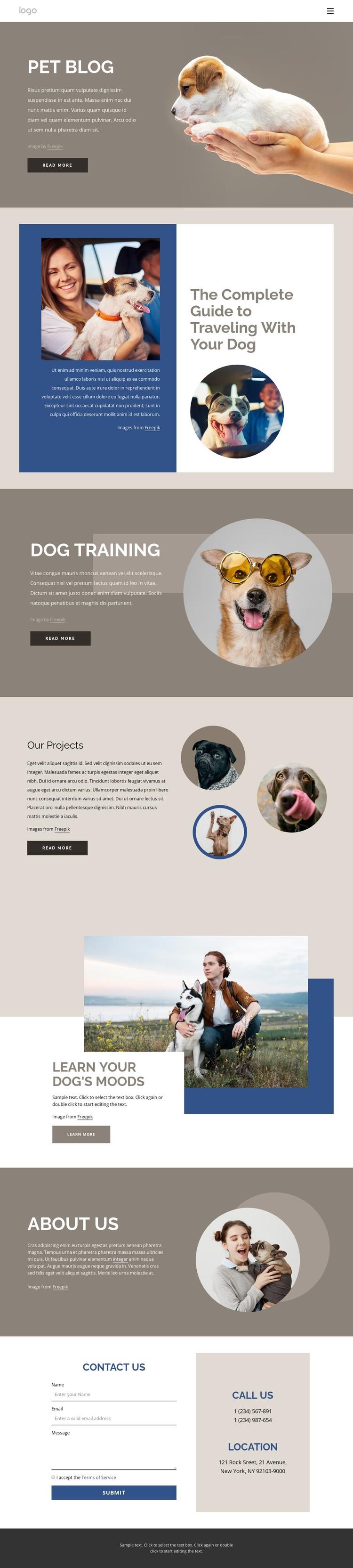 Pet Blog CSS Template