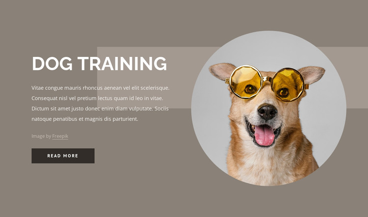 Dog training tips HTML Template