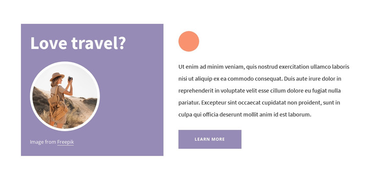 Travel tips HTML Template