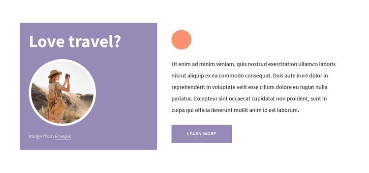 Travel tips Website Template