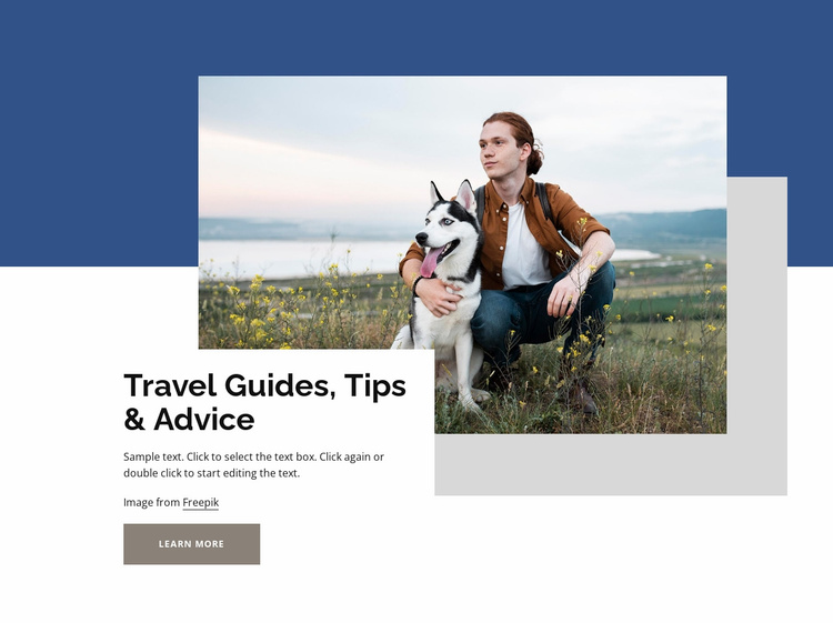 Travel guides and advice Website Template