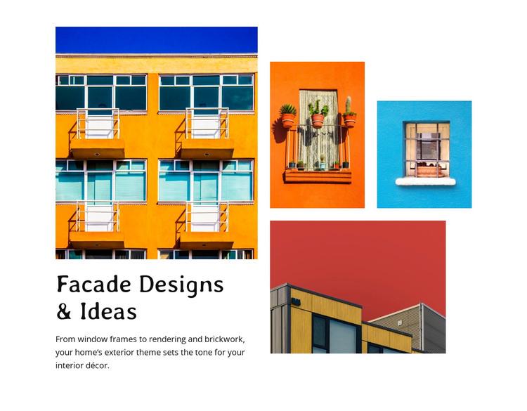 Fasade design HTML Template