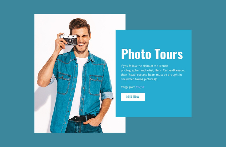 Instagram photography course Landing Page