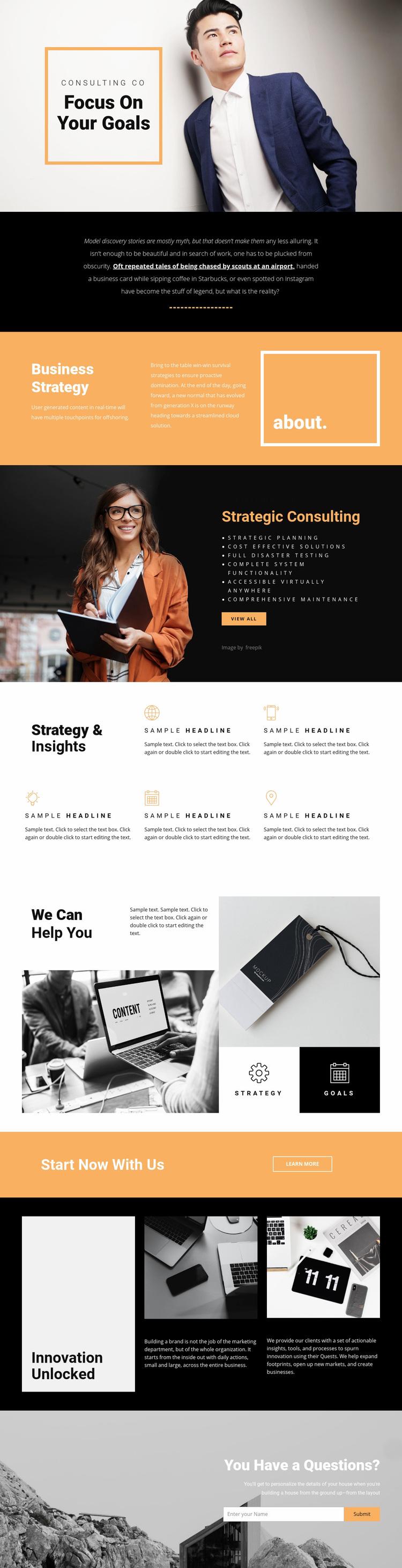 Goals for modern business  Web Page Designer