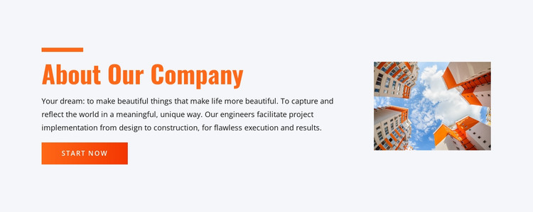 Specialty construction and planning HTML Template