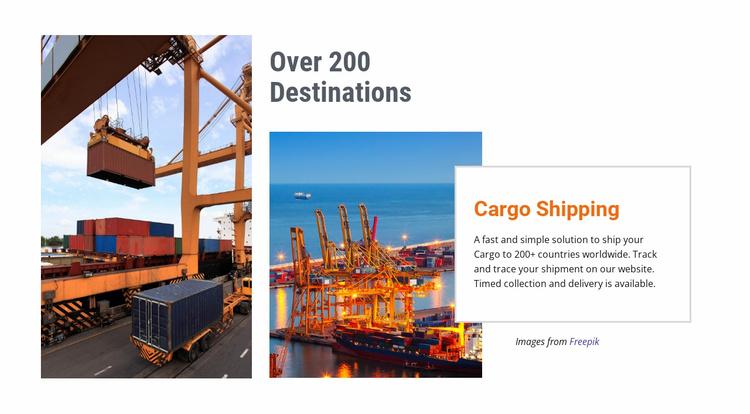 Ocean freight, air or rail Website Template
