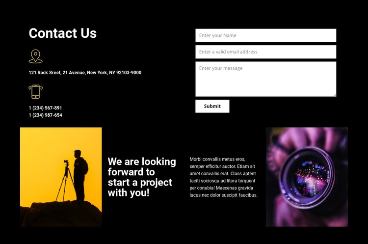 Contact us for any help CSS Template