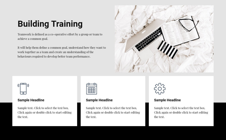 Building training Homepage Design