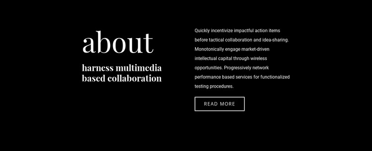 Business text on dark background HTML Template